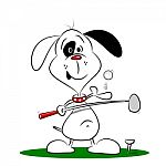 a-cartoon-dog-playing-golf-100183615