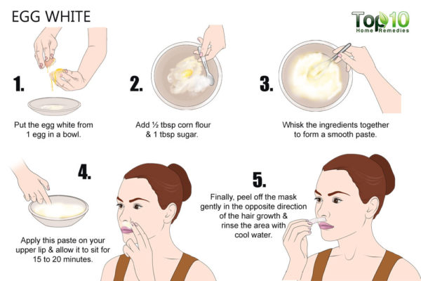 egg white to get rid of facial hair