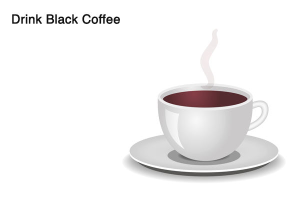 drink black coffee to fix alcohol breath