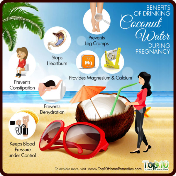 benefits of drinking coconut water during pregnancy